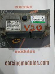 Módulo de Injeção Fiesta 1.0 Flex  IAW 4CFR.AR - 6S6512A650FC