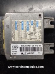 módulo de airbag honda fit - 77960-SAD-M112-M1 - 5WK43406