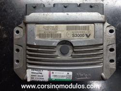módulo de injeção renault megane 1.6 16v - s3000 - 21585748-2A - 8200509963